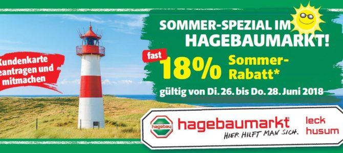 Sommer-Spezial im Hagebaumarkt