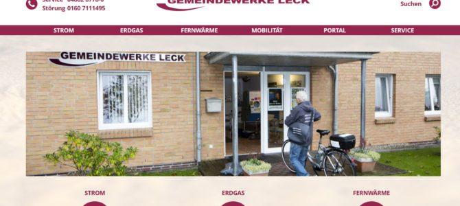 Gemeindewerke Leck präsentieren neues Kundenportal